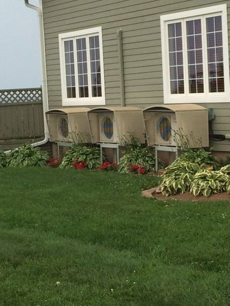 row of heat pumps